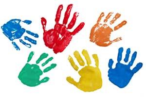 Basteln und Malen mit Farben